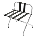 CSL High Back Series Back Webbing Metal Luggage Rack w/ Black Straps Zinc 6 Per Case Price Per Each