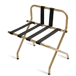CSL High Back Series Back Webbing Metal Luggage Rack w/ Black Straps Antique Inca Gold 6 Per Case Price Per Each