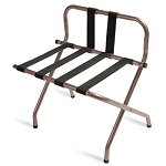 CSL High Back Series Back Webbing Metal Luggage Rack w/ Black Straps Walnut 6 Per Case Price Per Each