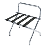 CSL High Back Series Wall Guard Metal Luggage Rack w/ Black Straps Zinc 6 Per Case Price Per Each