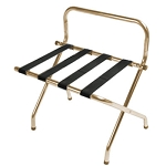 CSL High Back Series Wall Guard Metal Luggage Rack w/ Black Straps Antique Inca Gold 6 Per Case Price Per Each