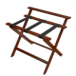 CSL Deluxe Series High Back Wood Luggage Rack w/ Black Straps Cherry Mahogany 3 Per Case Price Per Each