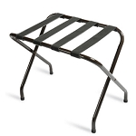 CSL Flat Top Series Metal Luggage Rack w/ Black Straps Black 6 Per Case Price Per Each