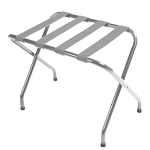 CSL Flat Top Series Metal Luggage Rack w/ Silver Straps Chrome 6 Per Case Price Per Each