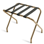 CSL Flat Top Series Metal Luggage Rack w/ Black Straps Antique Inca Gold 6 Per Case Price Per Each