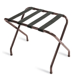 CSL Flat Top Series Metal Luggage Rack w/ Black Straps Walnut 6 Per Case Price Per Each