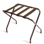 CSL Flat Top Series Metal Luggage Rack w/ Brown Straps Walnut 6 Per Case Price Per Each