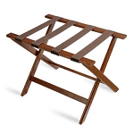 CSL Deluxe Series Wood Luggage Rack w/ Brown Straps Walnut 5 Per Case Price Per Each