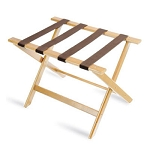 CSL Deluxe Series Wood Luggage Rack w/ Brown Straps Light Oak 5 Per Case Price Per Each