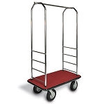 "CSL Easy-Mover™ Chrome Series Bellman's Cart Black Bumper 8"" Gray Pneumatic Casters"