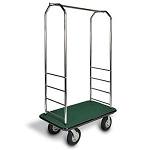 "CSL Easy-Mover™ Chrome Series Bellman's Cart Gray Bumper 8"" Gray Pneumatic Casters"