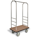 "CSL Easy-Mover™ Stainless Steel Series Bellman's Cart Gray Bumper 8"" Gray Pneumatic Casters"
