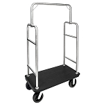 Deluxe Heavy Duty Bellman Carts - Squared Top with Plastic Deck