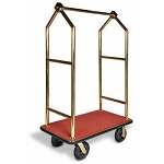 CSL Deluxe Titanium Gold Bellman's Cart w/ Angled Top 1-1/2