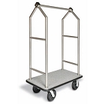 CSL Deluxe Stainless Steel Bellman's Cart w/ Angled Top 1-1/2