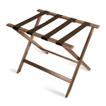 CSL Economy Series Wood Luggage Rack w/ Brown Straps Walnut 6 Per Case Price Per Each
