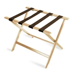 CSL Economy Series Wood Luggage Rack w/ Brown Straps Light Oak 6 Per Case Price Per Each