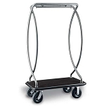 CSL Deluxe Heavy Duty Euro Style Stainless Steel Bellman's Cart 1 1/2
