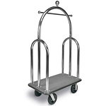CSL Deluxe Heavy Duty Trident Style Stainless Steel Bellman's Cart 2