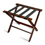 CSL American Hardwood Series Luggage Rack w/ Black Straps Cherry Mahogany 3 Per Case Price Per Each