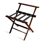 CSL American Hardwood Series High Back Luggage Rack w/ Black Straps Cherry Mahogany 3 Per Case Price Per Each