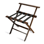 CSL American Hardwood Series High Back Luggage Rack w/ Black Straps Mahogany 3 Per Case Price Per Each