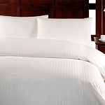 Downlite T-200 Woven Pinstripe Duvet Covers XL Twin 66x90 55/45 Cotton Poly Blend White 4 Per Case Price Per Each