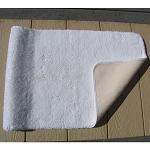 Faze 3 Bleach Armour Gold Cotton Bath Rugs w/ Latex Back 17x24 White 12 Per Case Price Per Each