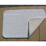 Faze 3 Bleach Armour Bronze QuikDri Polyester Bath Rugs w/ Latex Back 17x24 White 12 Per Case Price Per Each