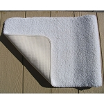 Faze 3 Bleach Armour Gold QuikDri Polyester Bath Rugs w/ Latex Back 17x24 White 12 Per Case Price Per Each