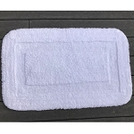 Faze 3 Supremacy Inset Loop Border Cotton Bath Rug 21x34 White 12 Per Case Price Per Each