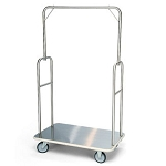 Forbes Standard Luggage Cart Brushed Stainless Steel Superstructure 5