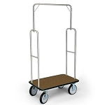 Forbes Standard Luggage Cart Brushed Stainless Steel Superstructure 8