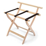 Forbes Contoured Solid Oak Luggage Rack w/ Back Bar 5 Per Case Price Per Each