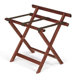 Forbes Straight Hardwood Luggage Rack w/ Back Bar 4 Per Case Price Per Each