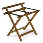 Forbes Straight Solid Oak Luggage Rack w/ Back Bar 4 Per Case Price Per Each