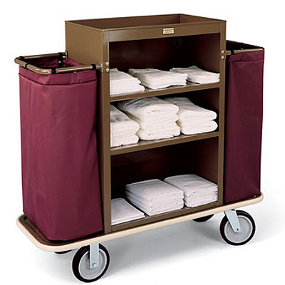 Forbes Steel Housekeeping Cart W 2 5 Quot Deep Top Tray Low