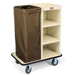 Forbes Steel Turndown Housekeeping Cart w/  Low-Profile Handle 5