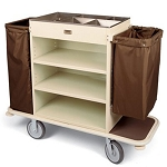 Forbes Steel Deluxe Housekeeping Cart w/ 6