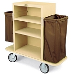 Forbes Plastic Extra Tall Housekeeping Cart w/ 2