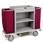Forbes Plastic Housekeeping Cart w/ 2