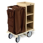Forbes Plastic Compact Housekeeping Cart w/ 2