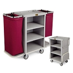 Forbes Compact Plastic Housekeeping Cart w/ 2