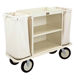Forbes Steel Housekeeping Cart w/ Low-Profile Handles 10