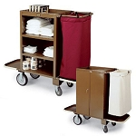 Forbes Steel Compact Housekeeping Cart w/ 2 Folding End Platforms & 1 Folding Handle 8