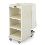 Forbes Steel Compact Housekeeping Cart w/ Reinforced Square Tube Base Two 8