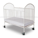 Foundations Full Size Pinnacle™ EasyRoll™ Steel Folding Crib w/ 4