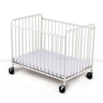 Foundations Compact StowAway™ EasyRoll™ Steel Folding Crib w/ 4