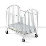 Foundations Compact Pinnacle™ EasyRoll™ Steel Folding Crib w/ 4
