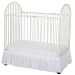 Foundations Bare is Best™ Compact Crib Dust Ruffle White 3 Per Case Price Per Case